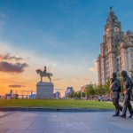 Sunset at the Pier Head, #Liverpool Picture by @andrewrtw https://t.co/a3QWyUsOKa