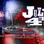 4th of July is one short week away! Judah Sealy Band, @RochesterPhil, & fireworks! #ROC #ROCEVENTS https://t.co/7J8bezotrZ