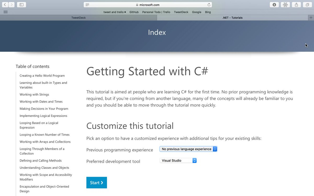 cool C# interactive tutorial to help you based on some options of languages you are used to: https://t.co/4mH0Vn8FxJ