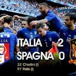 E AI QUARTI CI ANDIAMO NOI!! 👊 💙💙💙💙💙  #Euro2016  #ITA V #ESP 2-0 (#Chielini, #Pellè)  #ITASPA #ITAESP #ItaliaSpagna https://t.co/ewXpKhv2Sm