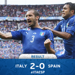 Superb Italy reach #EURO2016 quarter-finals. #ITA #ITAESP https://t.co/mS2vA8f35P