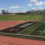 North end zone of new turf at Dick Bivins Stadium https://t.co/EGYDBlOy5P