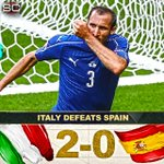 Italy prevails over Spain to advance to quarters. This is 1st time since 2004 team other than Spain will win EUROs. https://t.co/7ypE0ifb9A
