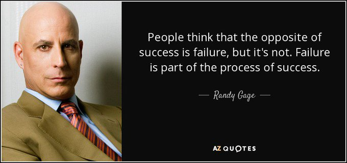People think that the opposite of success is failure. Here´s what Randy Gage has to say about this! https://t.co/xUXuUElMD9