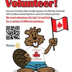 .@RotaryGuelph 295 Canada Day Volunteers Needed! Riverside Park Jun 30, July 1, & 2 https://t.co/t8BXmwdkwO https://t.co/Amay5GT7Gc