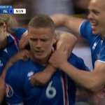Ragnar Sigurdssons goal is the 1st goal for Iceland in a major-tournament knockout game. https://t.co/dEl6kpTbFV
