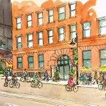 Vision of 4th Street in Saint Paul by Roberta Avidor. @PioneerEndicott @smarttrips  @StPaulWomenBike #Lowertown https://t.co/6mkPtt7Z9a