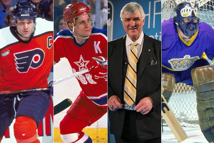 Meet the Hockey Hall of Fame Class of 2016. Eric Lindros, Sergei Makarov, Pat Quinn and Rogie Vachon. #HHOF https://t.co/bTy2pfqcQ3