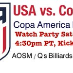#CopaAmerica is not done yet! #USAvCOL will be a great matchup! Come watch today with us @QsBilliards at 4:30 TODAY! https://t.co/uLXVXwOuCi
