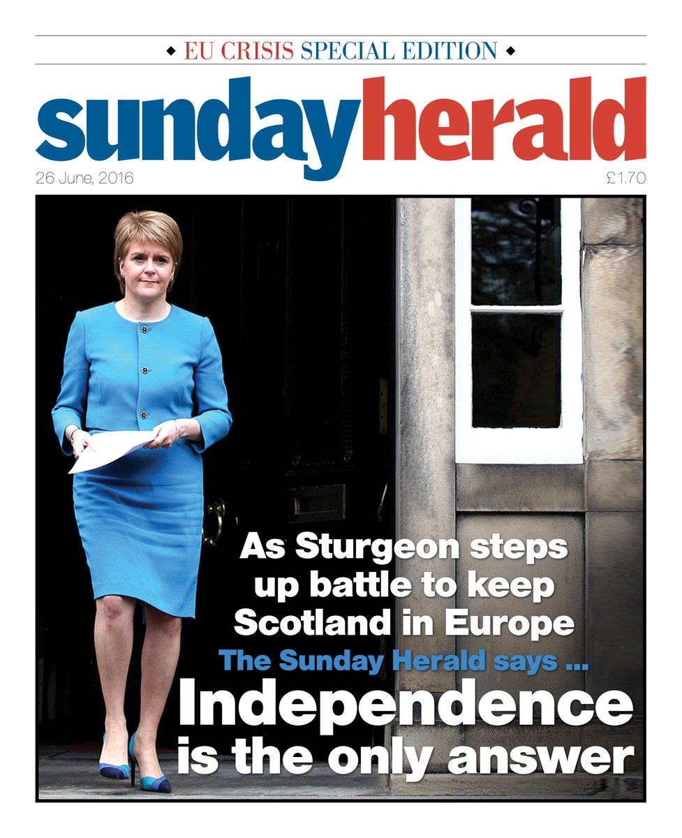 Our front page Independence is the only answer https://t.co/612bMeLpBW