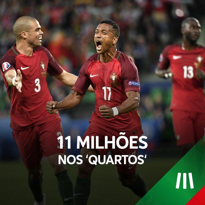 JÁ ESTÁ, ESTAMOS NOS 'QUARTOS'! Enormes, @selecaoportugal! #MEOPortugal #Euro2016 #CROPOR #POR https://t.co/EVkpG75OYn
