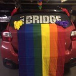 Getting the Bridgemobile prettied up for the Pride Parade!! Starts at City Hall at noon! @LethPrideFest #yql https://t.co/PLkE4yzGaW