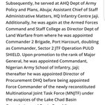 Tukur Buratai was Director of Procurement at DHQ from 2012 - 2014, during which time he bought TWO houses in Dubai. https://t.co/XQR0ERAM8t