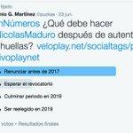 ¿Qué deben hacer @NicolasMaduro después de la autenticación de huellas?. El resultado de la encuesta #EnNúmeros https://t.co/htZDyOtn89