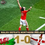 Wales is through to the quarterfinals with 1-0 win vs Northern Ireland! Wales: 1st knockout win at major tournament https://t.co/xN3vRgoR2H
