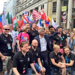 London is one of the most LGBT+ friendly cities in the world - & Im so proud to be your Mayor #Pride2016 #LoveWins https://t.co/JS8N0Bmscl
