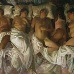 "Kanye Wests ""Famous"" video is inspired by painter Vincent Desiderio's ""Sleep."" https://t.co/BBE46tPOFF"