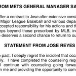 Official: #Mets sign Jose Reyes to a minor league contact. He will report to the Brooklyn Cyclones. https://t.co/1HKaKogsy6