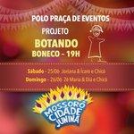 Hoje tem Botando Boneco e Festival de Repentistas na Praça de Eventos. Bora?! #mcj2016 https://t.co/SU60UGZgNE