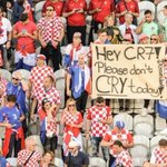 Croatian fans with a message for Cristiano Ronaldo... #CRO https://t.co/eh7YD52mNq