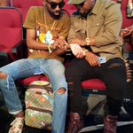 Rappers @CassperNyovest and @rikyrickworld seated together at the #BETAwards16 @SundayTimesZA https://t.co/L0q83qdBP8