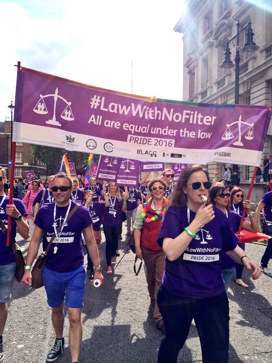 Well done @TheLawSociety. Another great #Pride2016. Happy memories, wonderful support #lawwithnofilter https://t.co/lkecx7RcXi