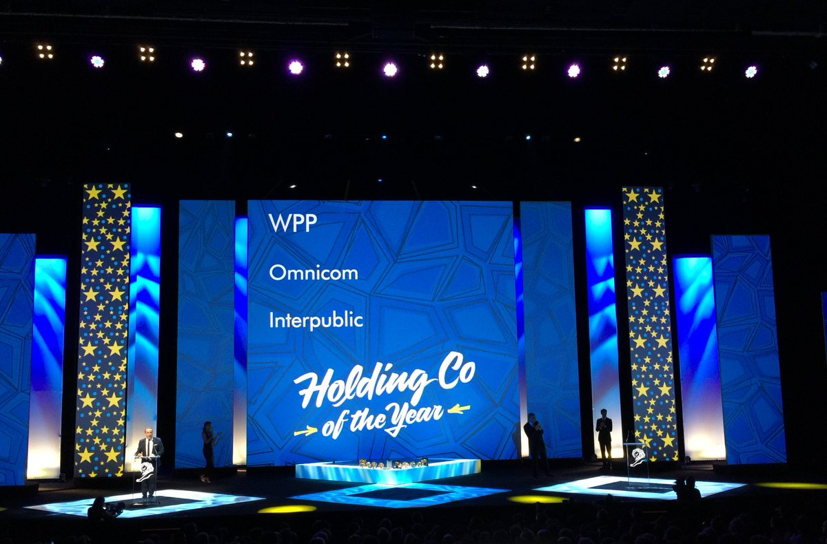 Creative holding company of the year for WPP and network of the year for @Ogilvy #CannesLions https://t.co/VHfKoSBqOE