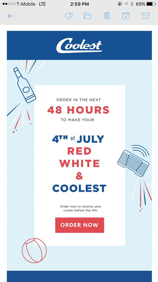 @Coolest_Cooler Are you fucking kidding me? I am an original backer and still haven't received my cooler. ORDER NOW? https://t.co/ybJmaMzJEk