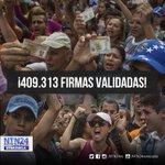 Oposición superó la meta del 1% para iniciar el revocatorio contra Maduro https://t.co/WHmBwu3Cmo https://t.co/6pxKsyaAP1