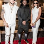 Mzansi couple @akaworldwide @bonang_m with US artist Will. I. Am #BETAwards16 https://t.co/ucou3sgu5f