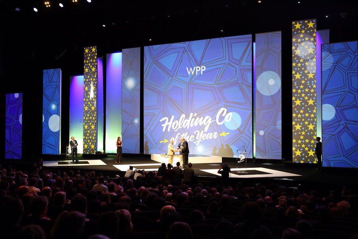 .@WPP shines at #CannesLions again, winning Holding Company of the Year award for the 6th year in a row! #HKCannes https://t.co/xeJD8EResL