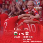 Through to the @EURO2016 Quarter-Final! What a feeling! #TogetherStronger #EURO2016 #WAL https://t.co/U6qkiVyIRP