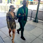Enhle Mlotshwa and her hubby, Nkhosinathi Black Coffee Maphumulo on their way to the BET Awards earlier today 👌 https://t.co/1TxPrw9Mwc