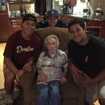 Today is my great grandmas 104 birthday. She says @MikeTrout is her boy. Rt so we can get her to meet him https://t.co/sBscKE3m3P