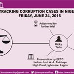 [INFOGRAPHIC] 24-6-2016: Tracking corruption cases in Nigeria. SAN before Judge on alleged obstruction of justice. https://t.co/IyJIbDqhRg