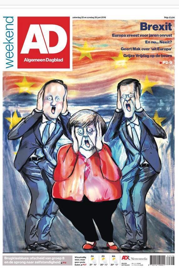 توظيف لوحة الصرخة الشهيرة للتعبير عن حال سياسيي معسكر البقاء في أوروبا، غلاف سياسي بذوق فنان .. جميل    https://t.co/KbJL94iS0D