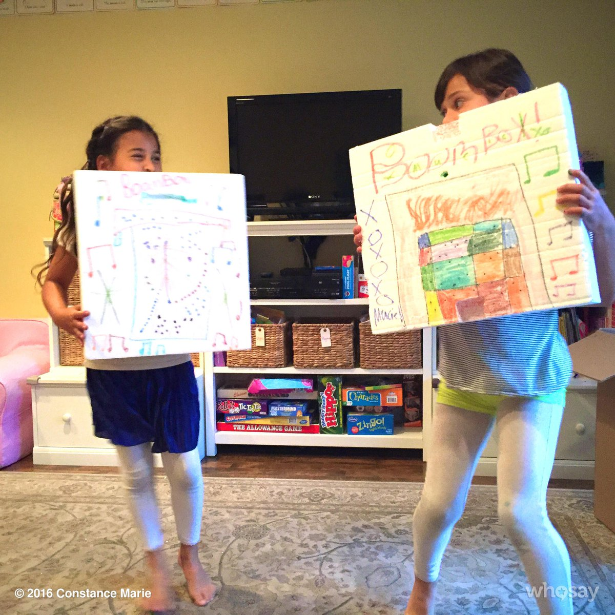 WOW!!! @lauramarano  My girls LOVE #BoomBox SO MUCH!! They've made their own!! #Saturday #DanceParty https://t.co/vp0L1tGrYY