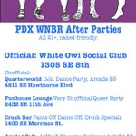 PLEASE HELP SHARE - these are this years clothing-optional #pdxwnbr afterparties...  #wnbr #nakedride https://t.co/ocx1Dpum5c