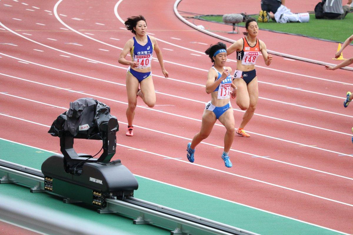 """まっちゃん on Twitter: """"【 日本選手権女子200m予選2組】 1"""
