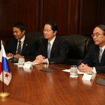 Pdte.@JC_Varela y el embajador Eto destacaron el fortalecimiento de las relaciones bilaterales entre Panamá y Japón. https://t.co/3cg9dgWMEe