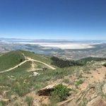 From Bountiful Peak looking towards Antelope Island & Great Salt Lake. @StormHour @WeatherNation @NWSSaltLakeCity https://t.co/a2fqSoEZtl