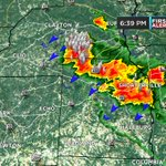 An outflow boundary is aiding a cluster of intense storms moving SW through Barbour & Henry counties. #alwx https://t.co/3BqMRlSCMJ