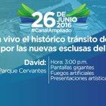 Sigue en vivo el histórico tránsito del primer barco por las nuevas esclusas del #SomosElCanal #Chiriquí https://t.co/sXYmUiVDlH