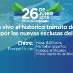 #Herrera Sigue en vivo el histórico tránsito del primer barco por las nuevas esclusas del #SomosElCanal https://t.co/MyfrCkvRZ1