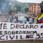 Una protesta en cada pueblo y un pueblo en cada protesta, ese es el camino. #ProtestaNacional30Jun #Venezuela https://t.co/eC6Mlf7svT