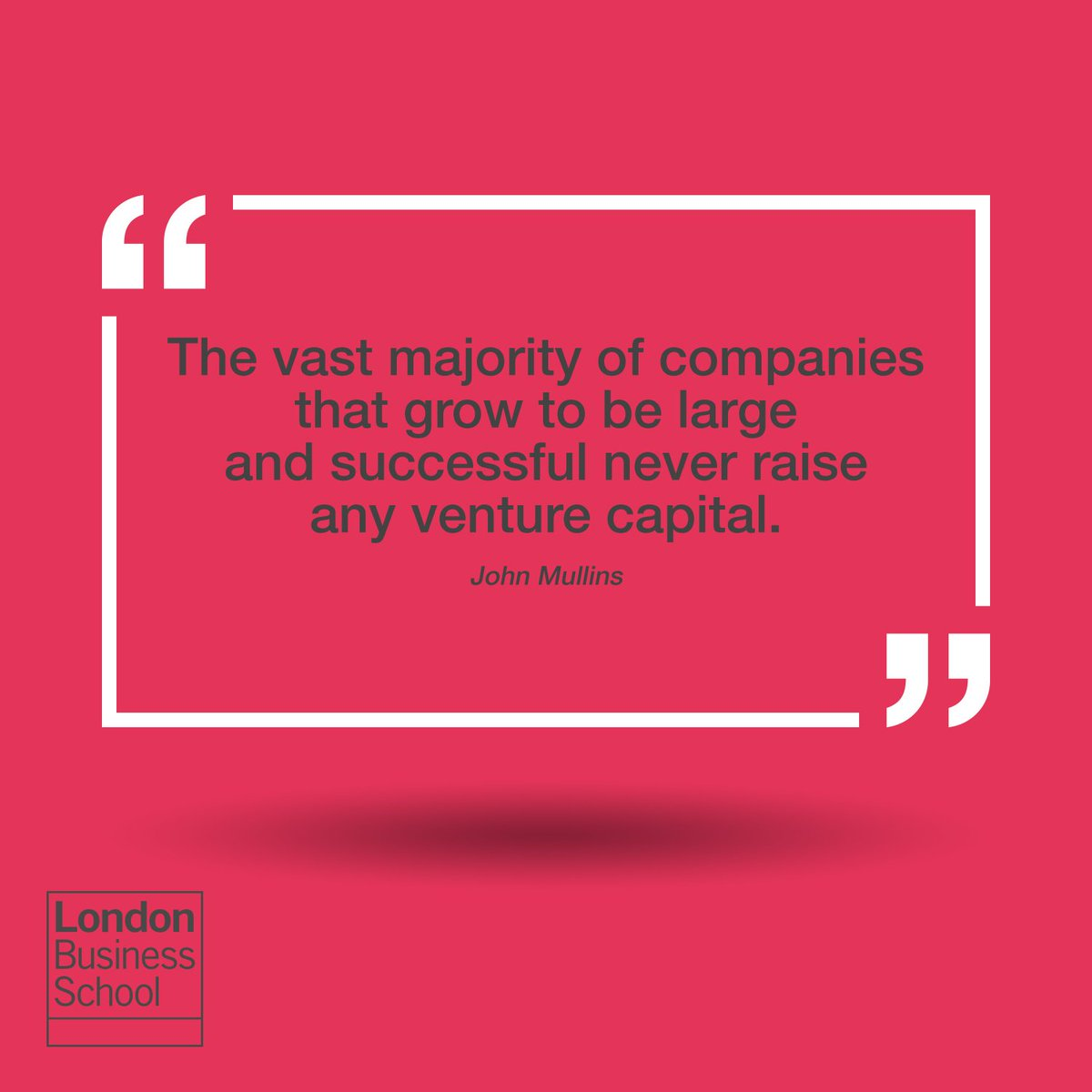 """The vast majority of companies that grow to be large and successful never raise any venture capital"" https://t.co/I68lqwBTFs"