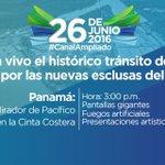 Sigue en vivo el histórico tránsito del primer barco por las nuevas esclusas del #CanalAmpliado #SomosElCanal https://t.co/lodXBbwi5l