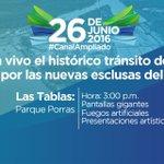 #LosSantos Sigue en vivo el histórico tránsito del primer barco. #CanalAmpliado #SomosElCanal https://t.co/O4BJ0C5lH9