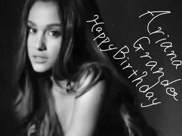HAPPY BIRTHDAY Ariana Grande 23 years old  I loveyou