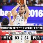 ¡Puerto Rico se lleva la medalla de oro del #Centrobasket2016! Vence a México 84-83 en la final. https://t.co/aHVFrSI5le
